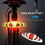 LAMP SUI Fahrrad-USB-LED-Anzeige-hintere Endstück-Licht-Fahrrad-Blinker-Licht mit Wireless Remote...