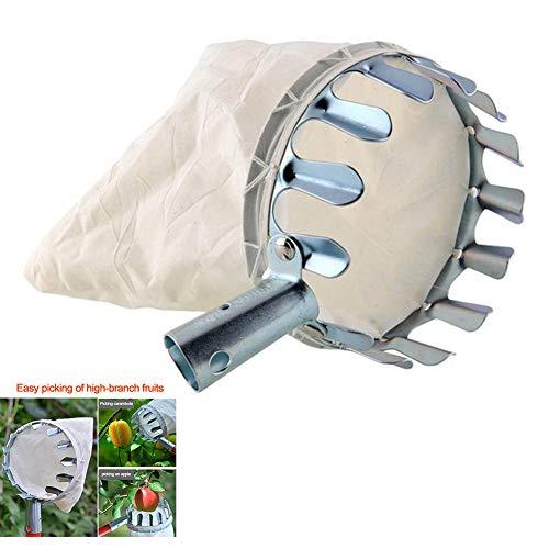 JoyFan Obstpflückerkopf, tragbar, Metall, Obstfänger, Picking Korb, Werkzeuge für Ernte, Apfel, Citrus Birne, Pfirsich