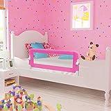 Lelestar Barriera per Letto Bambini Rosa, Sponda di Sicurezza per Lettino Bambino (102 x 42 cm)