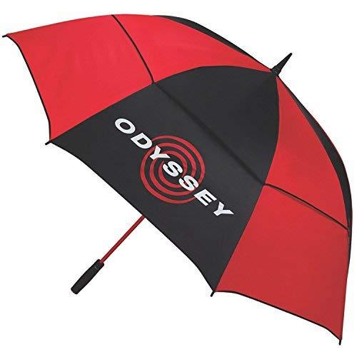 Odyssey 68 Parapluie Mixte, Noir/Rouge, Moyen