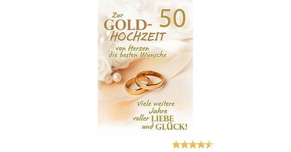 A4 Glückwunschkarte Goldene Hochzeit 50 Hochzeitstag Viele Weitere Jahre