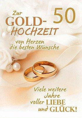 A4 Glückwunschkarte Goldene Hochzeit 50. Hochzeitstag Viele weitere Jahre