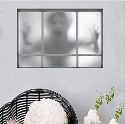 Hwhz Happy Halloween Wandaufkleber 3D Halloween Stil Muster Gefälschte Fenster Malerei Home Wohnzimmer Schlafzimmer Dekorative WandaufkleberA
