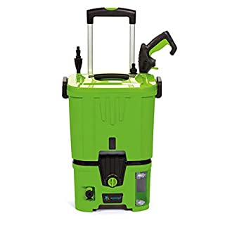 aqua2go Unisex's KROSS Battery High Pressure Cleaner, Green, M