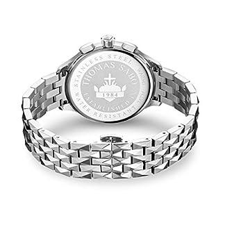 Thomas-Sabo-Damen-Chronograph-Quarz-Uhr-mit-Edelstahl-Armband-WA0345-201-201-38-mm