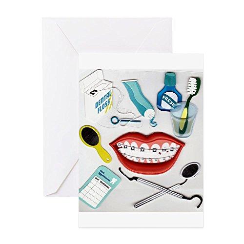 CafePress-Zahnärzte, zahnhygienikern empfohlen, orthodo-Grußkarte, Note Karte, Geburtstagskarte, innen blanko, glänzend