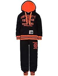 Enfants University Survêtement Haut À Capuche Bas De Jogging Fille Garçons Costume 2 Pièces