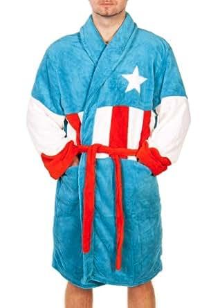 Marvel Comics Captain America Robe De Chambre Pour Homme