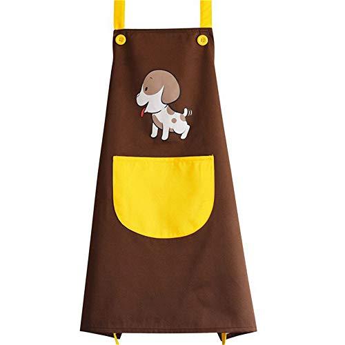 Haustierpflege-Schürze Multifunktions-Wasser-beständige Haustierpflege-Schürze Einfache saubere Schürze für Ölmaler Pet Shop Arbeitskleidung (Farbe : Braun, Größe : Einheitsgröße)