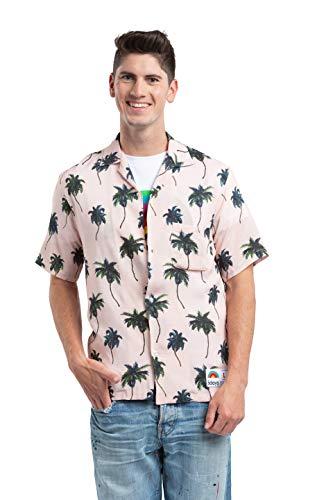 Sdays Hawaii Herren Freizeithemd mit Palmen Print 80er Jahre -