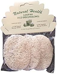 Natural Salud Loofah Exfoliante Almohadillas 100% Natural Pack de 3 …