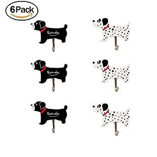 6pcs Self Adhesive Wall Hooks Hanger -Decorative Wall Hooks Sticky Hooks for Keys,Hats,Towel