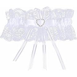 Liga de boda - cinta en tono blanco