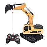 Dilwe Fernbedienung Bagger, 6 Kanäle Bagger LKW 1/24 RC Engineering Baufahrzeug Spielzeug Geschenk für Kinder ( Kunststoff)