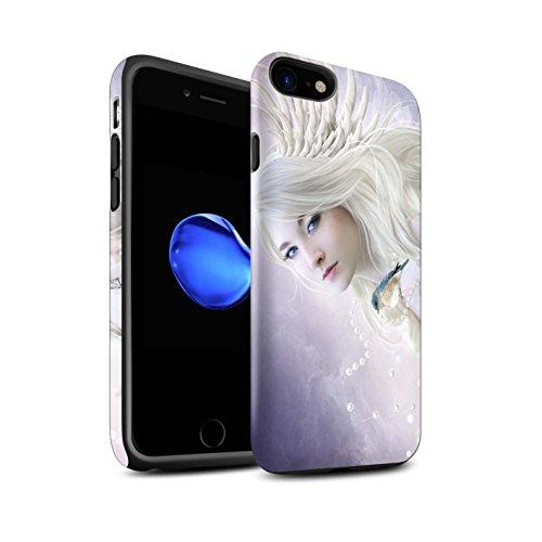 Officiel Elena Dudina Coque / Matte Robuste Antichoc Etui pour Apple iPhone 8 / Âmes Blanches/Des Bois Design / Les Oiseaux Collection Oiseau Blanc/Ange