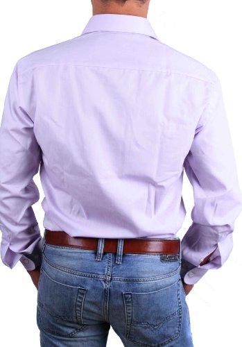 Casa Moda Herren Hemd Bügelfrei Langarm Verschiedene Farben Flieder