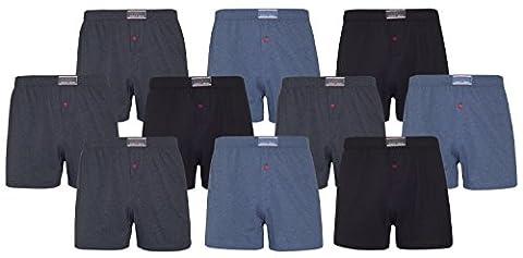 Boxershorts 10er-Pack Trendfarben Baumwolle Übergröße Geschenkverpackung sportmann (XL, Variante