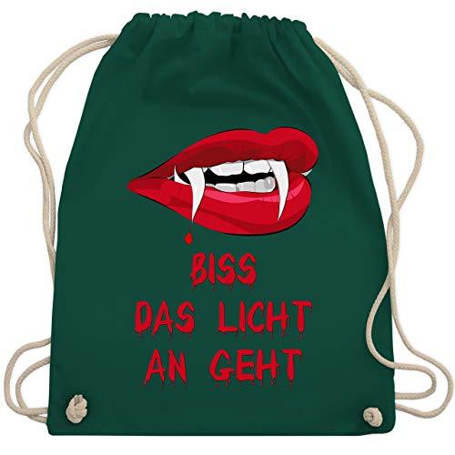 Halloween - Biss das Licht an geht Vampir - Unisize - Dunkelgrün - WM110 - Turnbeutel & Gym ()