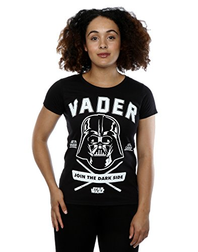 Star Wars Donna Darth Vader Collegiate Maglietta Small Nero