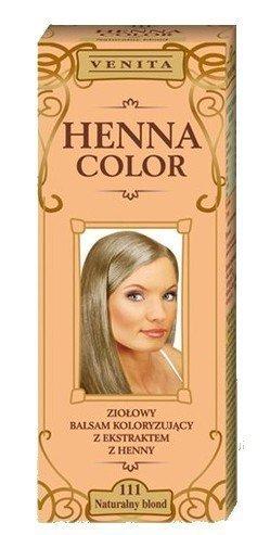 Henna Color 111 Natural Rubia Bálsamo Capilar Tinte