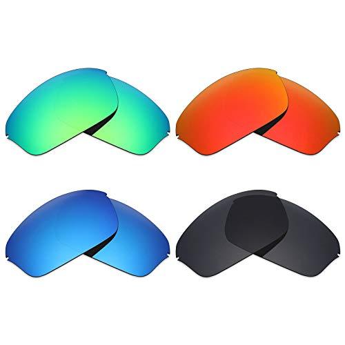 6647e5a653 Mryok Lot de 4 paires de lentilles de rechange polarisées pour lunettes de  soleil Oakley Half
