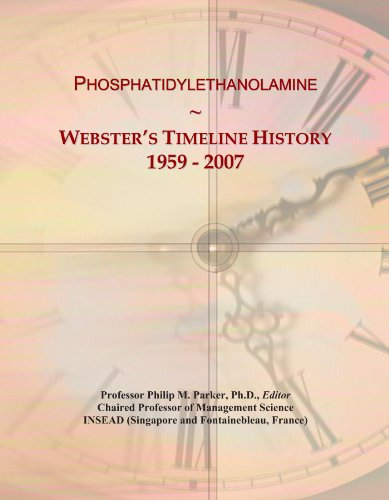 Phosphatidylethanolamine: Webster's Timeline History, 1959 - 2007