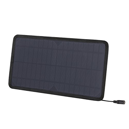 AUKEY Mini Panel Solar con el Enchufe del Zócalo del Coche 12V & Cable