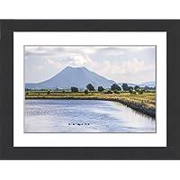 Framed 16x12 Print of Mount Edgecumbe (Putauaki), near Whakatane, Bay of Plenty, North Island (12396456)