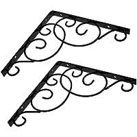 Coppia di supporto da parete supporto per Display 20cm Surpass Scaffale cistems in ghisa staffa di mensola da parete in nero
