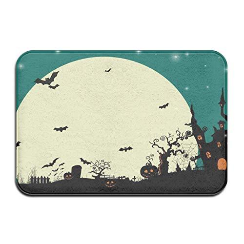 rbise und Dunkles Schloss auf Mond Deco-mat Fußmatte, Fussmatte Innen, rutschfest, Waschbar - Schmutzfangmatte - Fussabtreter - Türmatte 50 x 80 cm ()