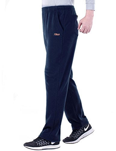 Nonwe Uomo All'aperto Casuale Fleece Escursioninsmo Pantaloni Blu1
