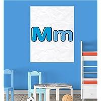 Alphabet M Nursery Children Educational Early Learning Poster Print Wall Art preiswert