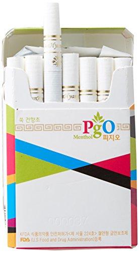 [PGO] cigarrillos de hierbas: 100% Artemisia, 1 paquete - Tabaco libre, libre de nicotina, aprobado por la FDA de Estados Unidos, 100% natural, sin aditivos químicos, suave sensación de fumar
