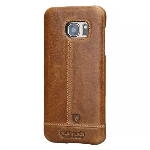 Pierre-Cardin-Luxury-Leather-Back-Case-Cover-for-Samsung-Galaxy-S7-Edge-Brown