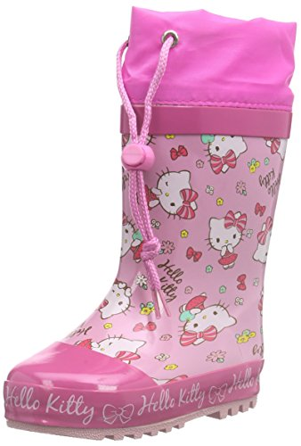 Hello Kitty Girls Kids Rainboots Boots, Mädchen Halbschaft Gummistiefel, Mehrfarbig (185 FUXIA/PINK/FUXIA), 25 EU