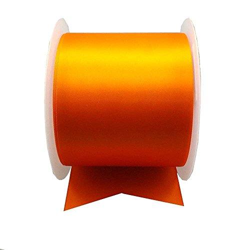 Nastro di raso Sash 100mm (10,2cm)-arancione-1m