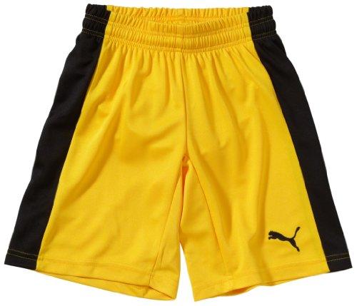 Puma Kinder Hose Powercat 5.12 Shorts with Inner Slip, Team Yellow/Black, 164, 701266 07