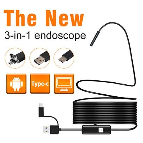 GuDoQi HD Boroscopio Endoscopio USB 3 1 Impermeable