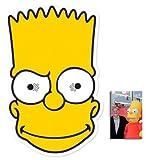 Bart Simpson Masque en carton de 2D (Les Simpson) - Comprend une photo étoile (15x10cm)