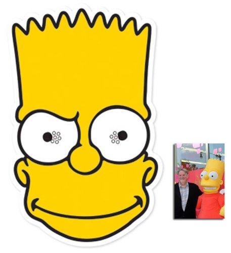 Simpson Baby Bart Kostüm - Bart Simpson Karte Partei Gesichtsmasken (Maske) (Die Simpsons) - Enthält 6X4 (15X10Cm) starfoto