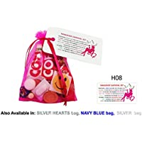 HANGOVER SURVIVAL KIT in HOT PINK BAG Novelty Keepsake Gift, Bride To Be Party, Night Drunk, Stag, Wedding, Hen 18th 40th etc...