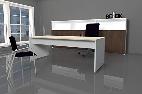MESA CON FALDÓN, fabricada completa madera 200X80