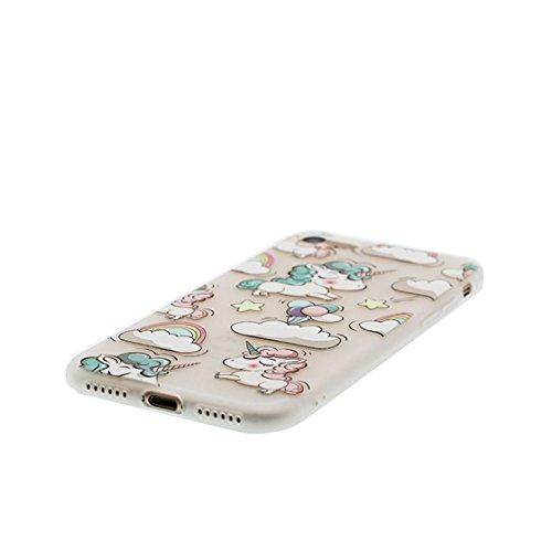 Custodia iPhone 6 Plus, ( porpora Flower ) Silicone trasparente iPhone 6S Case iPhone 6s Plus copertura Cover 5.5 e ring supporto Shell Graffi Resistenti Color - 6