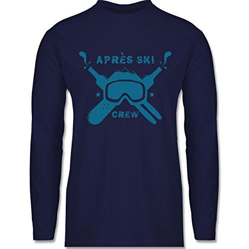 Shirtracer Après Ski - Apres Ski Crew - Herren Langarmshirt Navy Blau
