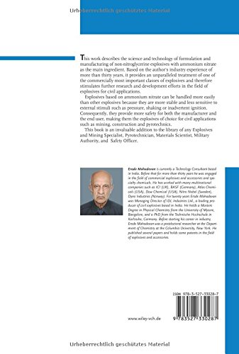 Ammonium Nitrate Explosives for Civil Applications: Slurries, Emulsions and Ammonium Nitrate Fuel Oils