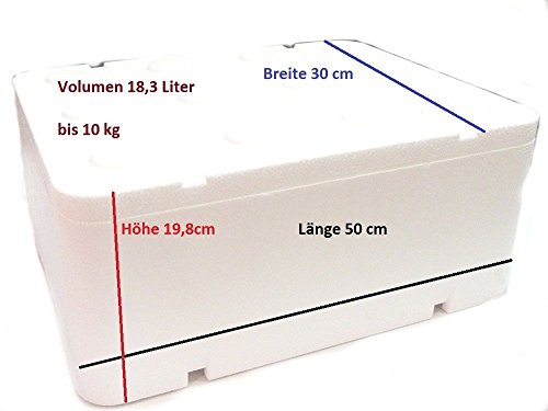 Styroporbox Thermobox mit Deckel 18,32 L / 500x300x198m… | 00791732396133