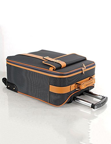 Retro Crossbar Oxford Pattern Universal- Rad Trolley Taschen Reise Gepäck Boarding Gepäck ( Farbe : 2 , größe : 58*39*21cm ) 2