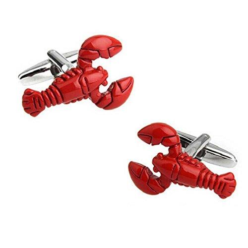 Fablcrew red lobster gemelli nodo polsino manica pulsante camicie da donna da uomo con decorazione