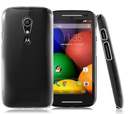 Tidel Premium Transparent clear white Silicon Flexible Soft TPU Slim Back Case Cover For Motorola Moto G2 G 2 (2Nd Gen) 2014  available at amazon for Rs.99