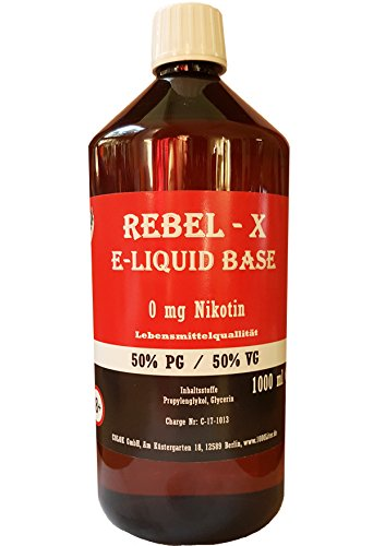 E Liquid Base 1L 50 PG/50 VG